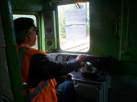 Terry Brand at the controls of the EPB